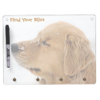 Bliss Golden Retriever Horizontal Dry Erase Board