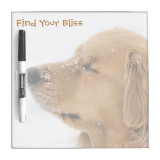 Bliss Golden Retriever Square Dry Erase Board