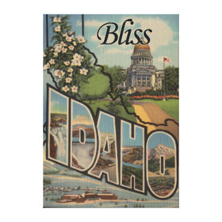 Bliss, IdahoLarge Letter ScenesBliss, ID Gallery Wrapped Canvas