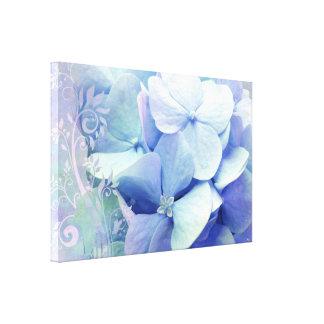 Bliss Lavender Blue Hydrangea Canvas Prints