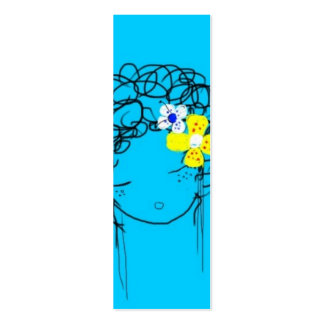 Bliss - Mimi Yoya Girl BOOKMARK Double-Sided Mini Business Cards (Pack Of 20)