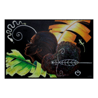 Bliss Mosaic Paper Poster