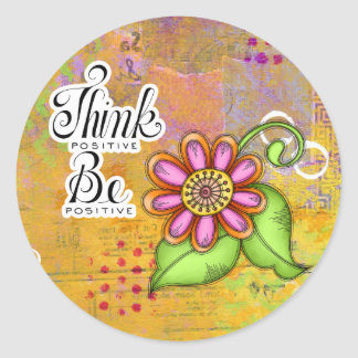 Bliss Positive Thought Doodle Flower Sticker
