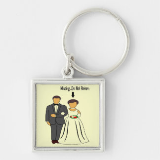 Bliss Silver-Colored Square Keychain