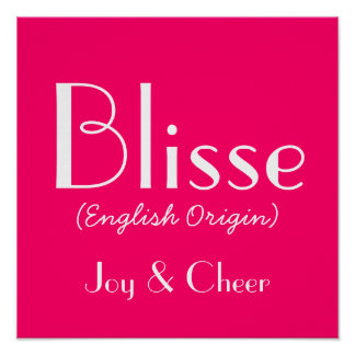 Blisse English Origin With Meaning In Pink Print