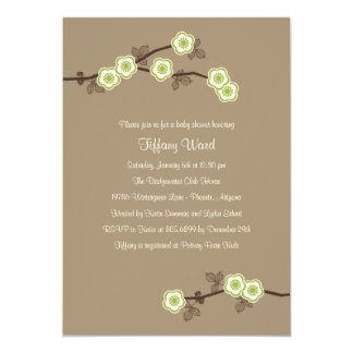 Blissful Blossoms Baby Shower Invitation