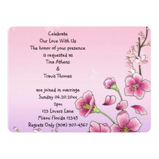 Blissful Blossoms Whimsical Wedding Party Flower 6.5x8.75 Paper Invitation Card