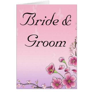 Blissful Blossoms Whimsical Wedding Personalize Card