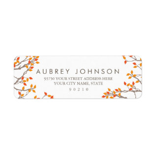 Blissful Branches Address Labels at Zazzle