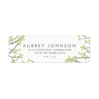 Blissful Branches by Origami Prints Address Labels Return Address Label