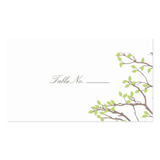 Blissful Branches Guest Table Escort Cards Business Card Templates