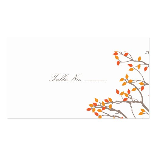 Blissful Branches Guest Table Escort Cards Business Cards