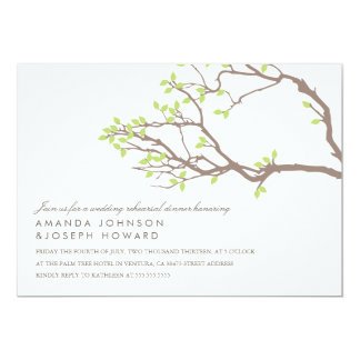 Blissful Branches Rehearsal Dinner Card