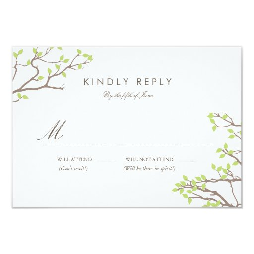 Blissful Branches RSVP 3.5x5 Paper...