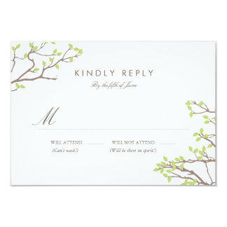 Blissful Branches RSVP Card