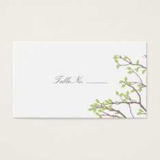 Blissful Branches Table Escort Business Card at Zazzle