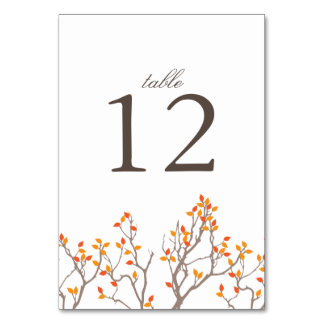 Blissful Branches Table Number Card Table Card