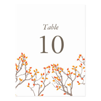 Blissful Branches Table Numbers Postcards