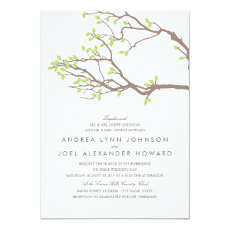 Blissful Branches Wedding 5x7 Paper Invitation Card
