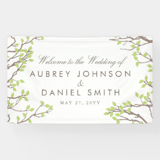 Blissful Branches Wedding Banner