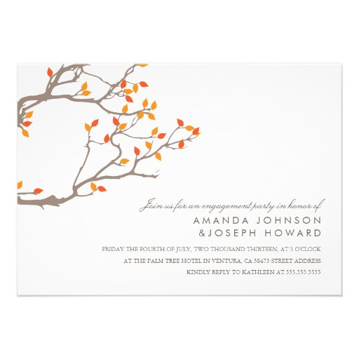 Blissful Branches Wedding Engagement Party Invite