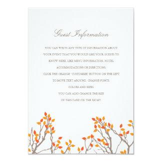 Blissful Branches Wedding Insert Card