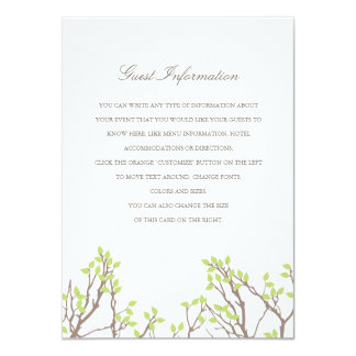 Blissful Branches Wedding Insert Announcements