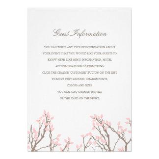 Blissful Branches Wedding Insert Invitation