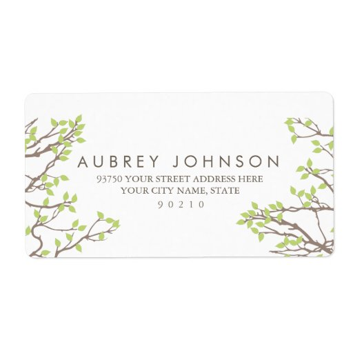 Blissful Branches Wedding Label