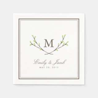 Blissful Branches Wedding Paper Napkin at Zazzle