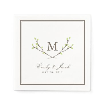 origamiprints Blissful Branches Wedding Paper Napkin