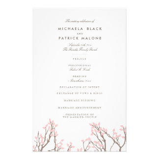 Blissful Branches Wedding Program