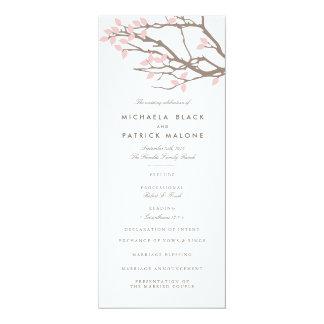 Blissful Branches Wedding Program 4x9.25 Paper Invitation Card