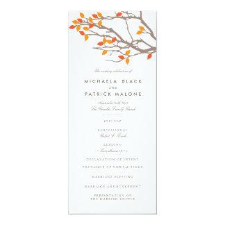 Blissful Branches Wedding Program Card