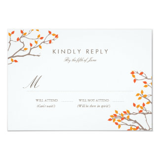 Blissful Branches Wedding RSVP Card