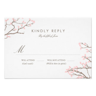 Blissful Branches Wedding RSVP Custom Announcements