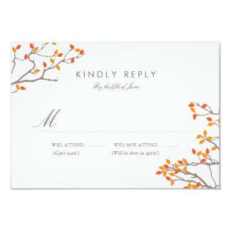 Blissful Branches Wedding RSVP Custom Invitation