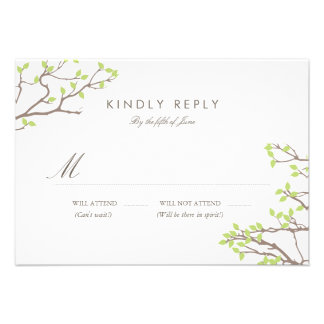 Blissful Branches Wedding RSVP More Colors Custom Invitation