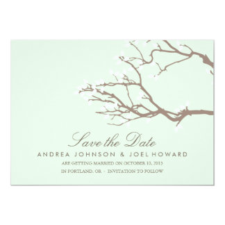 """Blissful Branches Wedding Save the Date 5"""" X 7"""" Invitation Card"""