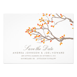 Blissful Branches Wedding Save the Date Personalized Announcements