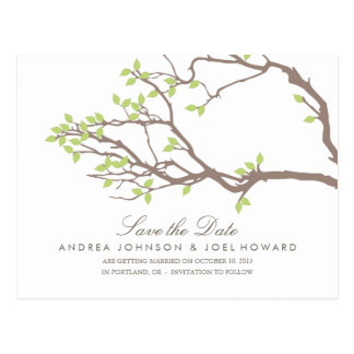 Blissful Branches Wedding Save the Date Postcard