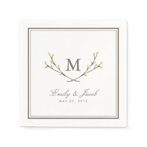 Blissful Branches Wedding Standard Cocktail Napkin