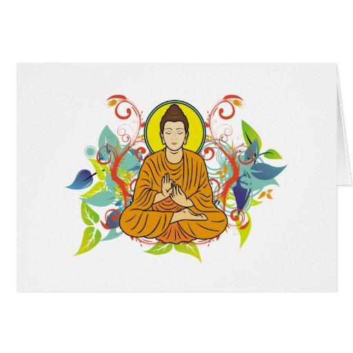 Blissful Buddha Card