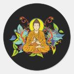 Blissful Buddha Round Stickers