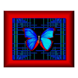 Blissful Butterfly Poster