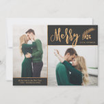 "Blissful | Faux Gold Foil Elegant Christmas Photo Holiday Card<br><div class=""desc"">Send elegant,  classy holiday greetings with these faux foil photo cards by Orabella Prints.</div>"