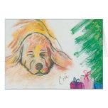 Blissful Holiday Dreams Basset Hound Dog Christmas Card