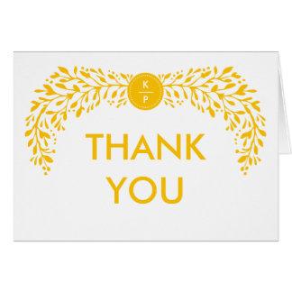 Blissful Laurel EDITABLE COLOR Thank You Card