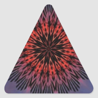 Blissful Morning Sunrise Kaleidoscope Triangle Sticker