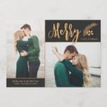 "Blissful | Photo Holiday Card<br><div class=""desc"">Send elegant,  classy holiday greetings with these faux foil photo cards by Orabella Prints.</div>"